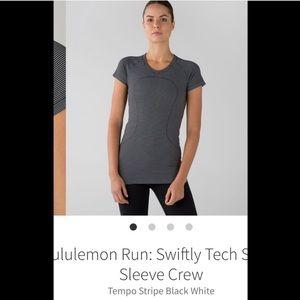 LULULEMON Swiftly Tech ss 10 tempo stripe